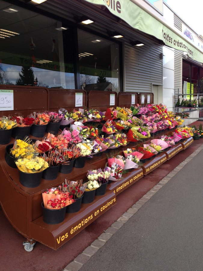 Mobilier extérieur pour fleuriste