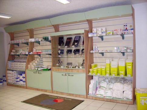 Agencement de pharmacie et boutiques de santé