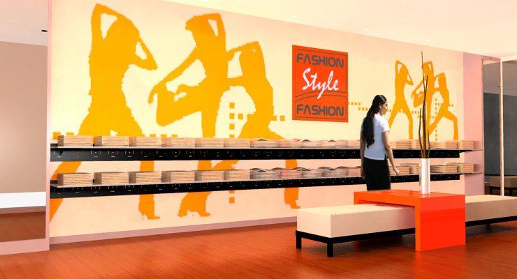 mobilier mural vetements femmes