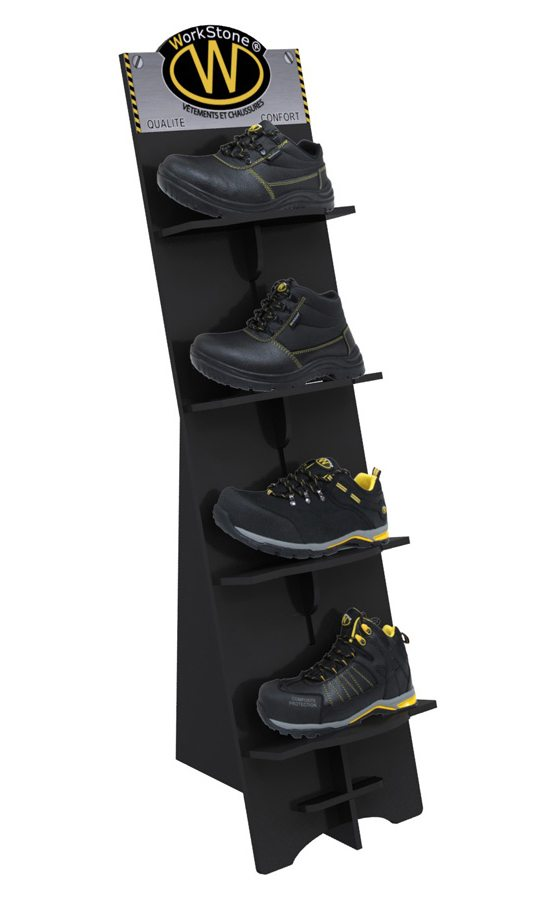 pr sentoir de chaussure de s curit lac direct. Black Bedroom Furniture Sets. Home Design Ideas
