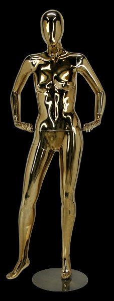 mannequin de vitrine finition doré