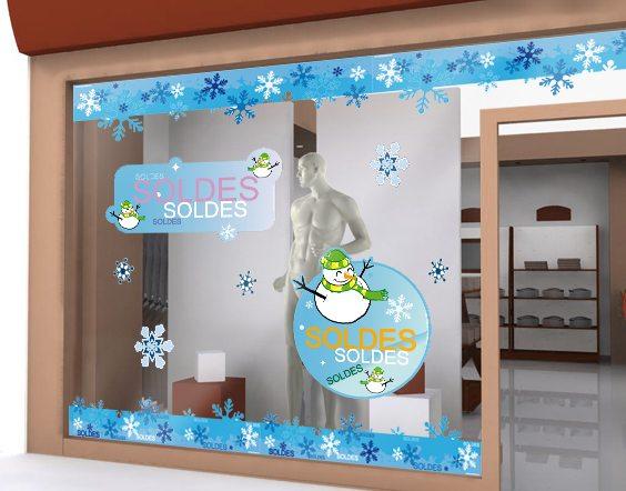 Stickers de vitrine d'hiver pour la boutique