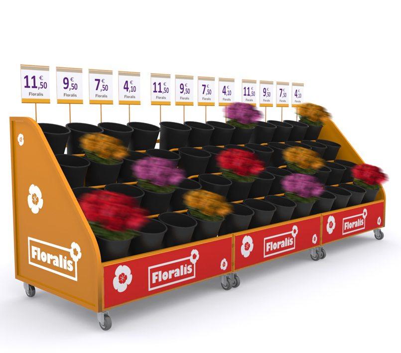 meuble extérieur fleurs