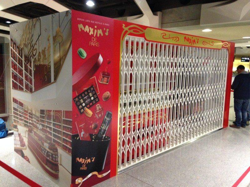 Pop Up Store Maxims Paris Aéroport CDG