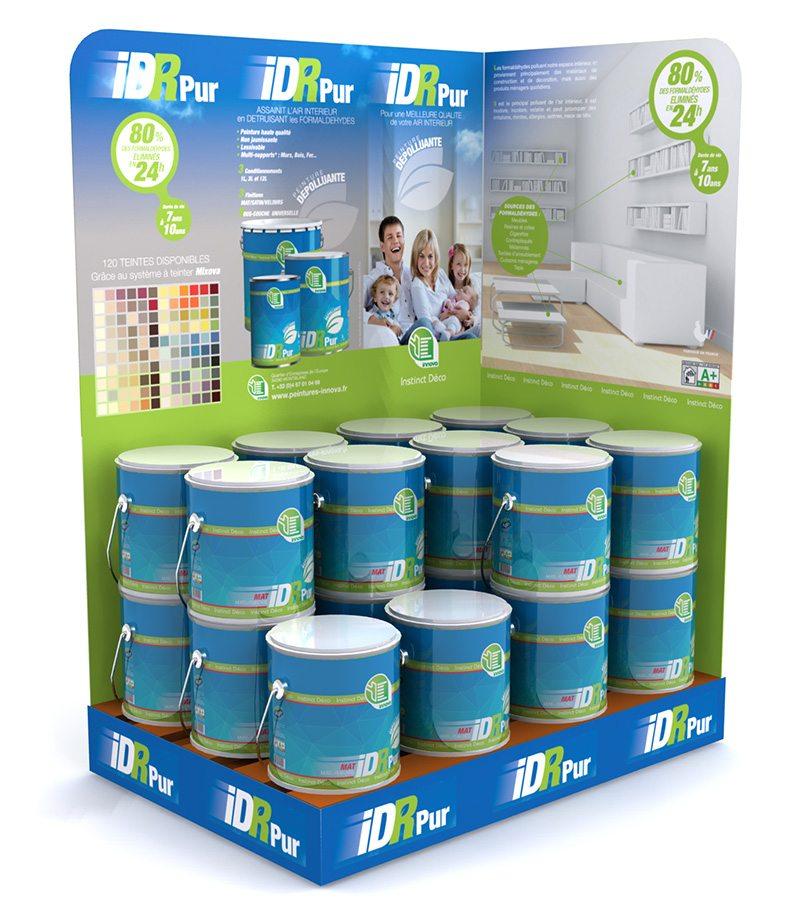 palette PLV pots de peinture