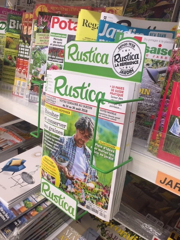 Presentoir pour presse jardinage Rustica